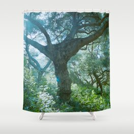 lever spread Shower Curtain