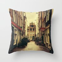 amsterdam Throw Pillows featuring Amsterdam by Pati Designs
