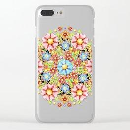 Boho Chic Millefiori Clear iPhone Case