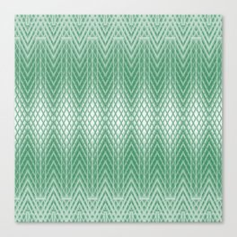 Cool Mint Green Frosted Geometric Design Canvas Print