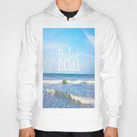 relax Hoodies featuring Relax by JuniqueStudio