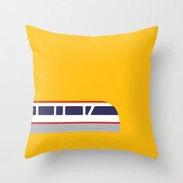Seattle Monorail Pop Art - Seattle, Washington Throw Pillow