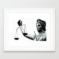 justice Framed Art Prints featuring Justice ? by arnedayan