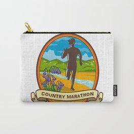 Country Marathon Run Oval Retro Carry-All Pouch