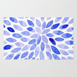 Watercolor brush strokes - blue Rug