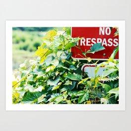 NO TRESPASS Art Print