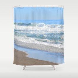 Baby Blue Ocean Shower Curtain