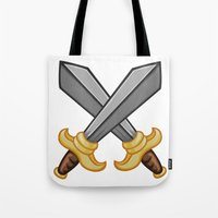 fight Tote Bags featuring FIGHT by Countmoopula