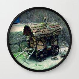 Faery Caravan in Birch Bark Wall Clock