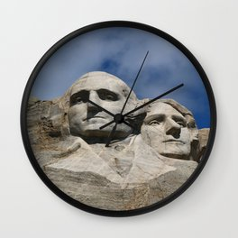 George Washington And Thomas Jefferson  - Mount Rushmore Wall Clock