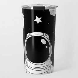 Astronaut and Asteroids Travel Mug