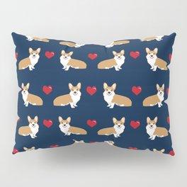 Corgi love hearts valentines day pet gifts love welsh corgi dog breeds pet friendly pattern Pillow Sham