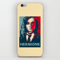 hermione iPhone & iPod Skins featuring Hermione by husavendaczek