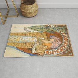Art Nouveau poster by Alphonse Mucha Rug