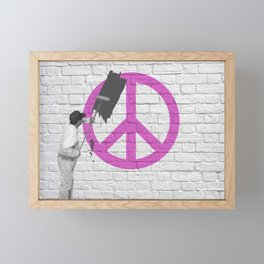No Peace Allowed! Framed Mini Art Print