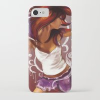 dancing iPhone & iPod Cases featuring Dancing by Lina Caro Design