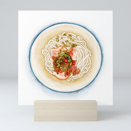 Watercolor Illustration of Chinese Cuisine - Guilin Rice Noodle   桂林米粉 Mini Art Print