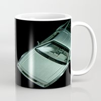delorean Mugs featuring DeLorean DMC-12 by Matthew Clark