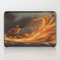 aang iPad Cases featuring Avatar Aang by Zack Coleman