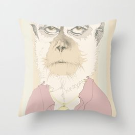 mono gitano Throw Pillow