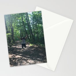 Jumping through life obstacles Stationery Cards