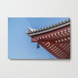 Japanese Temple Roof Lines Metal Print