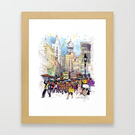 Second Line Parade, New Orleans Framed Art Print