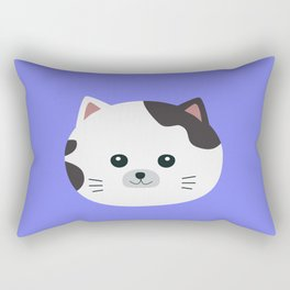 White Cat with spotted fur Rectangular Pillow