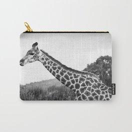Giraffe walking in African Savanna Carry-All Pouch