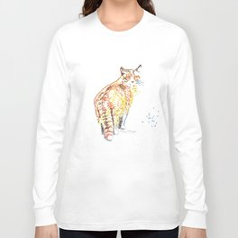 Whimsical Alley Cat Art Long Sleeve T-shirt