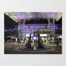 Test Track at Night Canvas Print