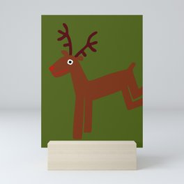 Reindeer-Green Mini Art Print