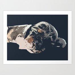 """Kazoozle"" ~ Dachshund, Weiner Dog, Doxie, everywhere!  Art Print"