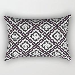 Three-Color Mosaic Rectangular Pillow