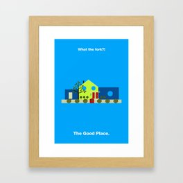 The Good Place Minimalist Poster Framed Art Print