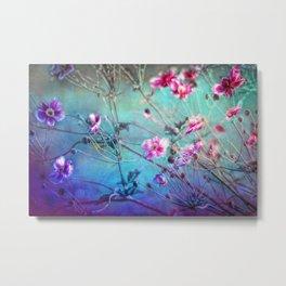 FLEURS DU PRÉ II - Wildflowers in painterly style Metal Print