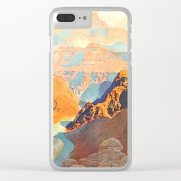 Romantic America 1913 - The Grand Canyon Clear iPhone Case