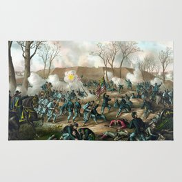 Battle of Fort Donelson -- Civil War Rug