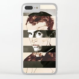 Egon Schiele's Self Portrait & Anthony Perkins Clear iPhone Case