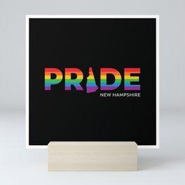 New Hampshire LGBTQ Pride (Black) Mini Art Print