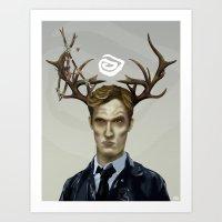 Notice King  True Detective Art Print