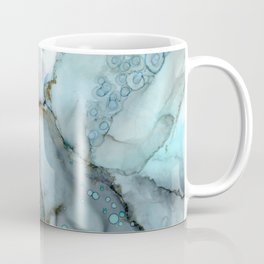 Stratus - light blue and gray, watercolor style abstract in alcohol inks Coffee Mug