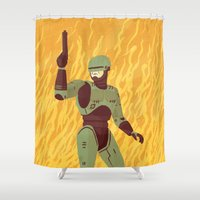 robocop Shower Curtains featuring Robocop by James White