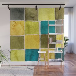 Fashion Color Trend 2021  Watercolor Pattern Wall Mural