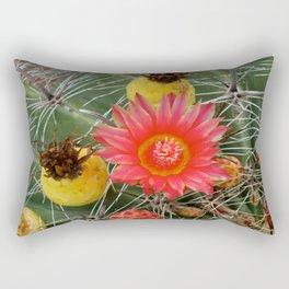 Barrel Cactus Flower and Fruit Rectangular Pillow