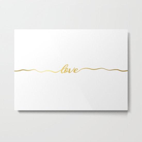 golden love Metal Print