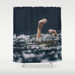 Her Hands (Color) Shower Curtain