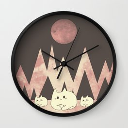 cats 520 Wall Clock