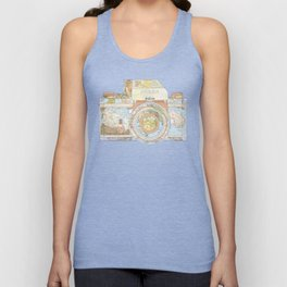 TRAVEL NIK0N Unisex Tank Top