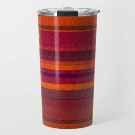 """Pink and Purple Burlap & Velveteen"" Travel Mug"